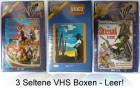 3 Seltene VHS Boxen - Leer!