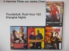 4 Jackie Chan Fi- Thunderbolt, Rush Hour 1&3 Shanghai Nights