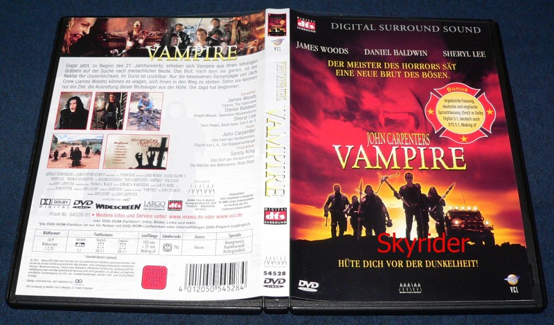 John Carpenter's Vampire DVD - Uncut - von VCL -