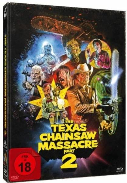 THE TEXAS CHAINSAW MASSACRE 2 - DVD+BLU-RAY - UNCUT - OVP!