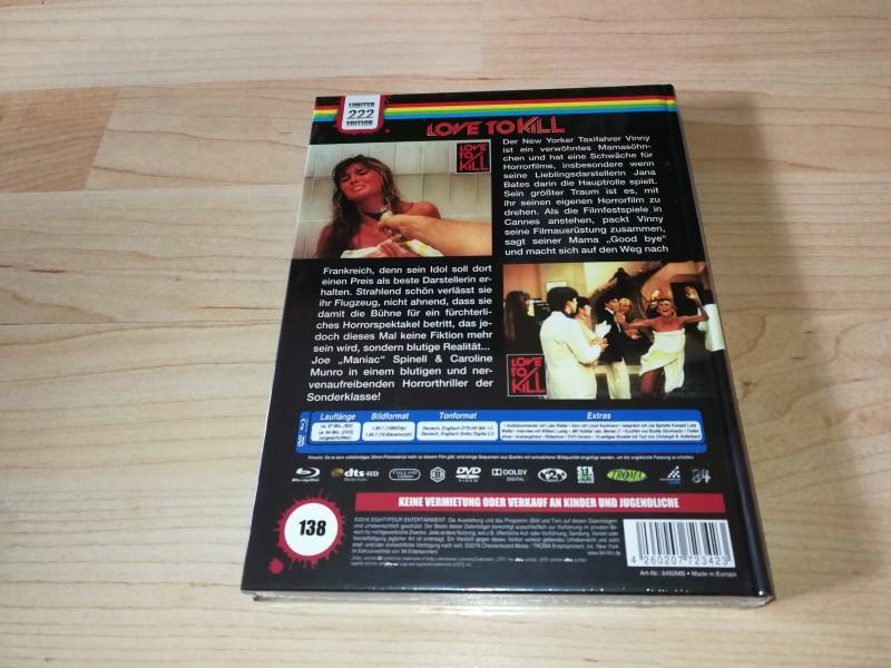 Maniac 2 Love to kill B Mediabook 84 OVP oop rar 138/222