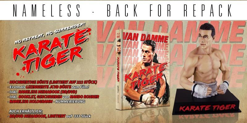 Karate Tiger I Büste inkl. Mediabook, oop und rar