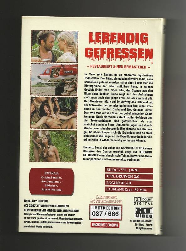 LEBENDIG GEFRESSEN # XT VIDEO + NR. 037 / 666 + NEU&OVP