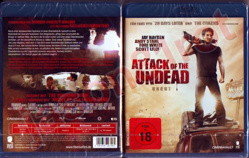 The Walking Death - Attack of the Undead uncut / Blu Ray OVP