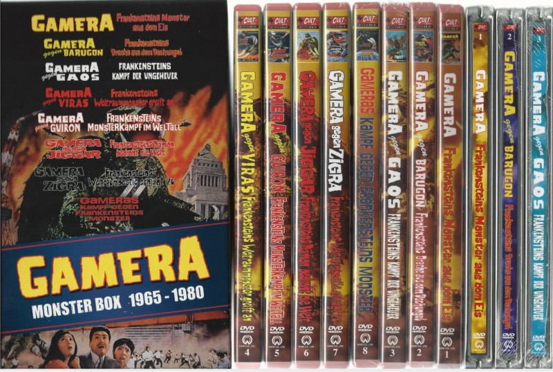Gamera Monster Box 1965-1980 - Full Set Box OVP
