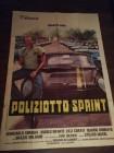 Poliziotto Sprint Plakat Maurizio Merli Ital. Original