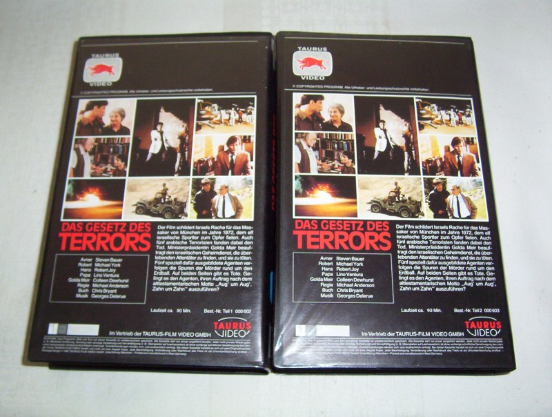 Das Gesetz des Terrors Teil1 u. 2 -VHS-