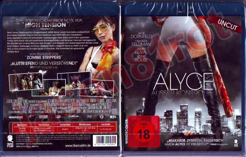 Alyce - Ausser Kontrolle - uncut / Blu Ray NEU OVP