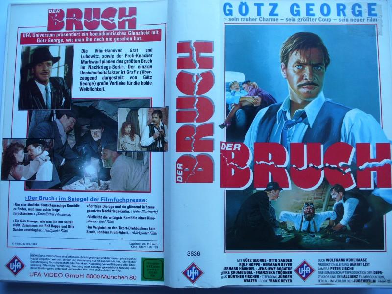 Der Bruch ... Götz George, Otto Sander ... VHS