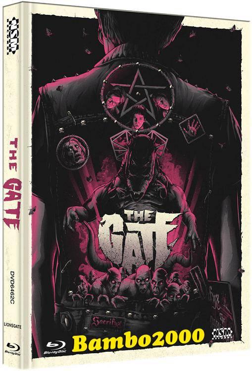 *THE GATE *UNCUT* COVER C *DVD+BLU-RAY MEDIABOOK* NEU/OVP