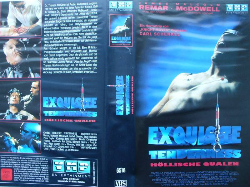 Exquisite Tenderness ... James Remar  ... VHS ... FSK 18