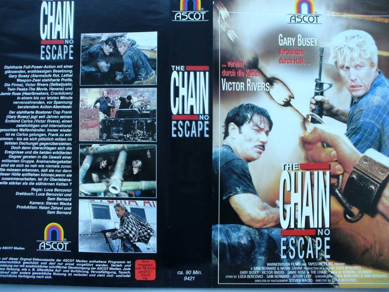 The Chain no Escape ... Gary Busey ... VHS ... FSK 18