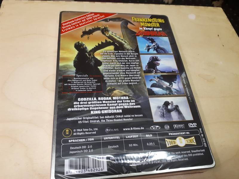 Frankensteins Monster im Kampf gegen Ghidorah...Steelbook