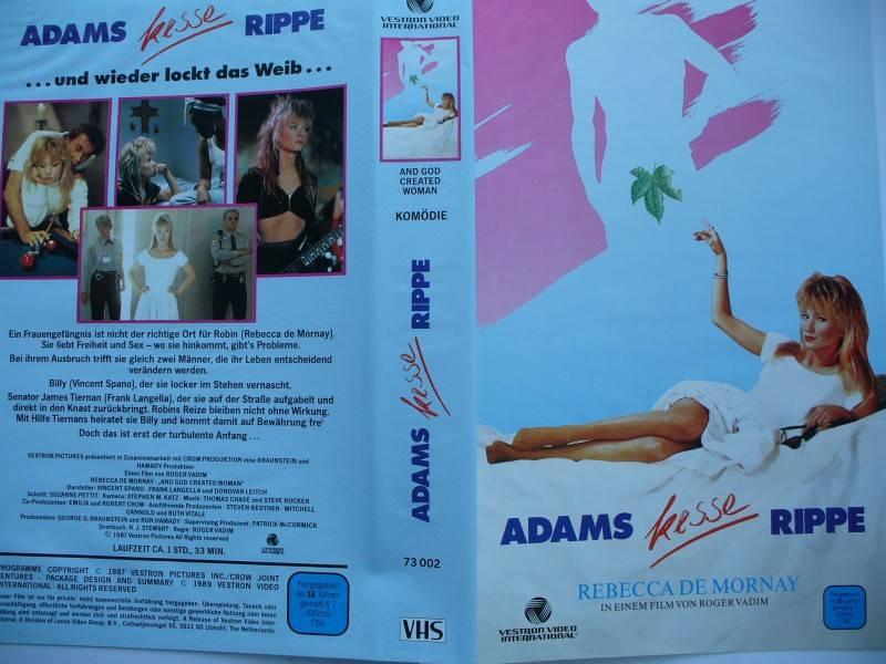 Adams kesse Rippe ... Rebecca De Mornay ... VHS