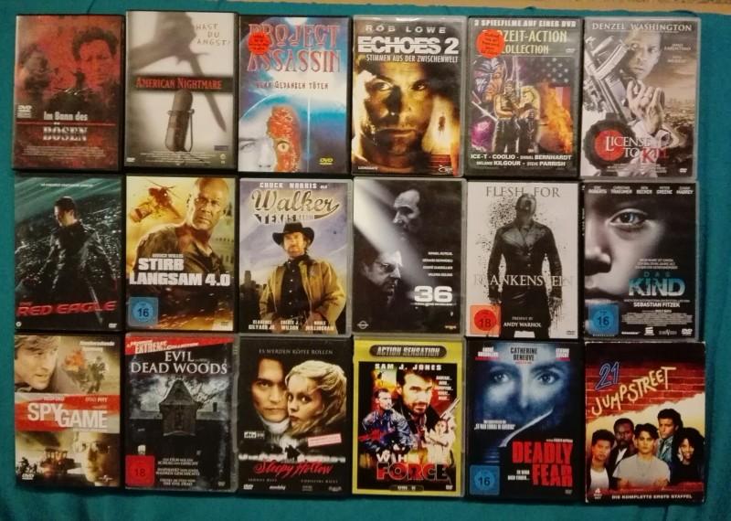 Mega DVD Sammlung - 68 Filme (Horror, Action...)