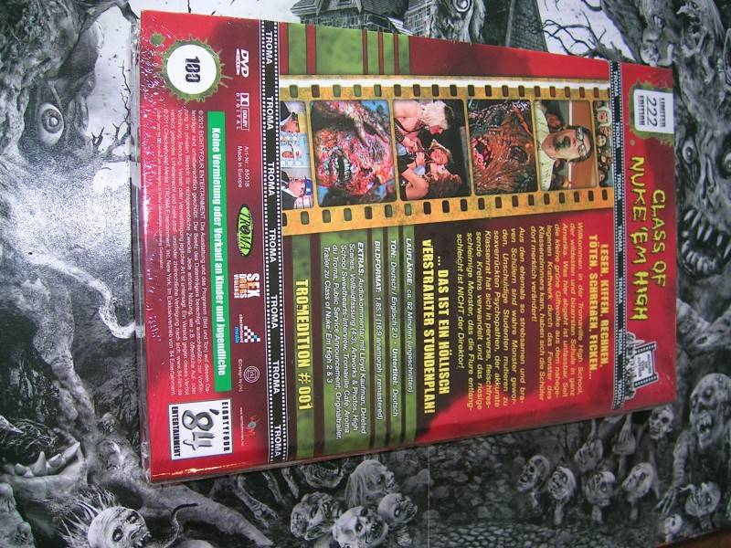 CLASS OF NUKE EM HIGH LIMITED 100/222 TROMA HARTBOX NEU OVP