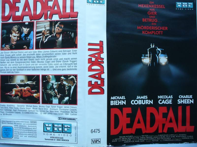 Deadfall ... Michael Biehn, James Coburn  ... VHS