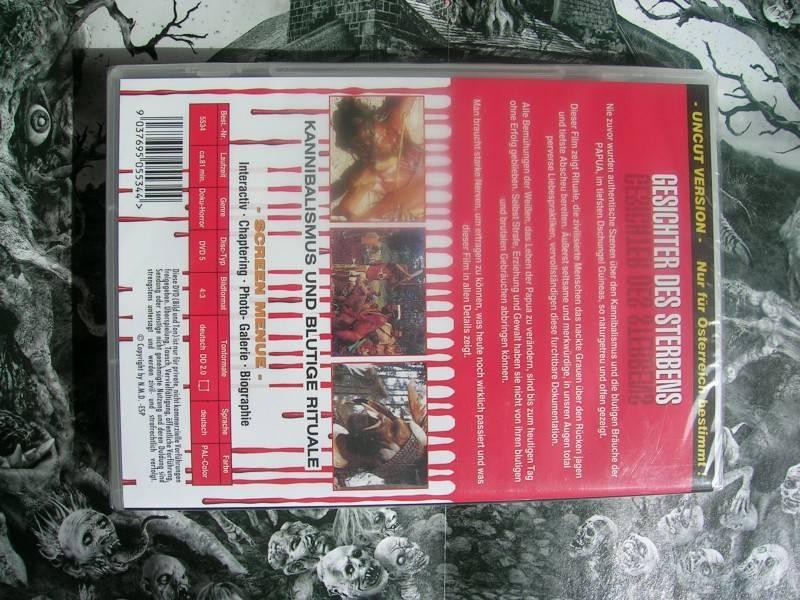 GESICHTER DES STERBENS FULL UNCUT MONDO DVD NEU OVP
