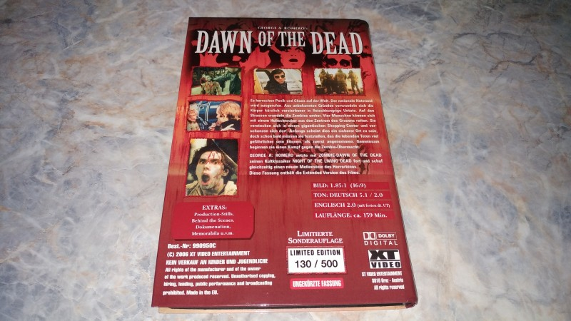 **DAWN OF THE DEAD - XT VIDEO**