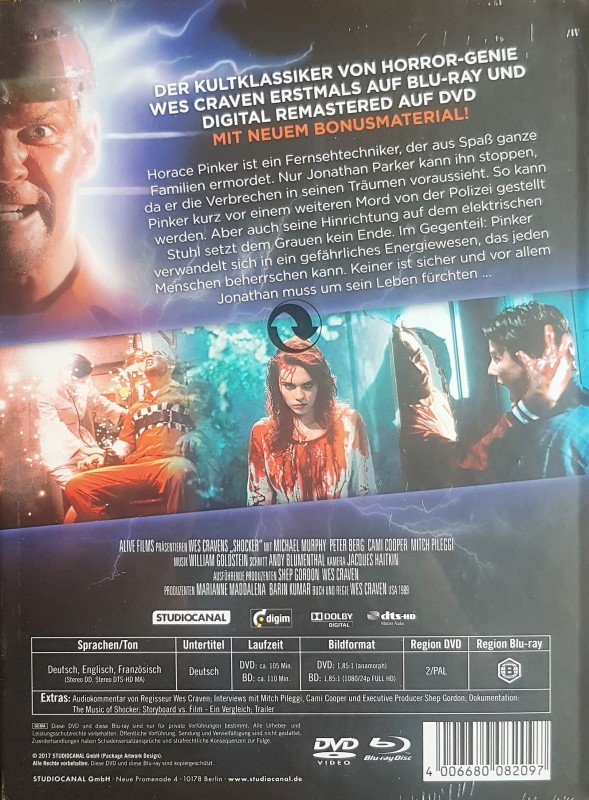 Shocker - Mediabook A (Blu Ray+DVD) NEU