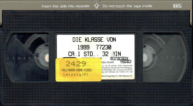 (VHS) Die Klasse von 1999 - Große Box - Video Concorde