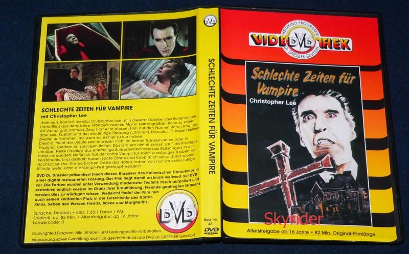 Schlechte Zeiten für Vampire DVD mit Christopher Lee - VTD -