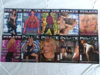 10 Softcoverausgaben des Pornomagazins Pirate aus 1996-1997