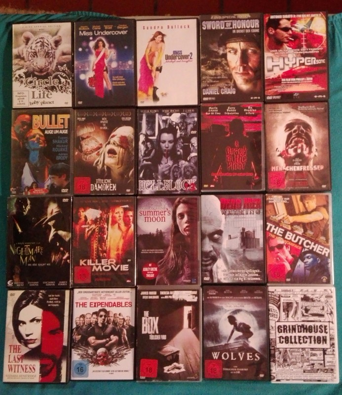 Riesige DVD Sammlung - über 90 TOP Titel (Horror,  Action.)