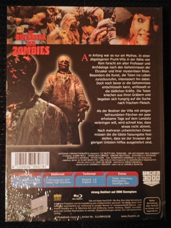 Die Rückkehr der Zombies Mediabook Cover B OVP 1000 Stück