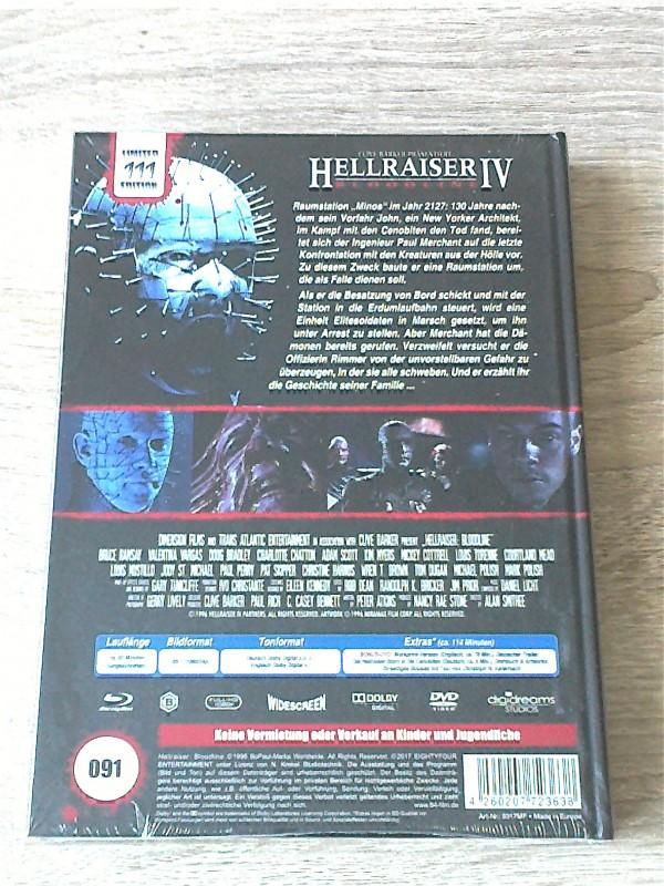 HELLRAISER 4 - BLOODLINE - LIM.MEDIABOOK F NR.91/111 - UNCUT