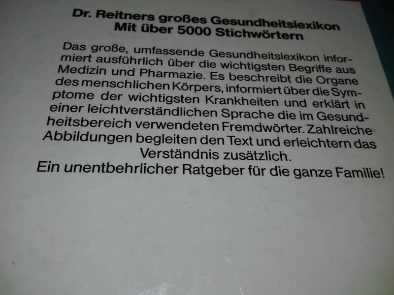 ♞BUCH - Großes Gesundheitslexikon (Dr. Reitner)