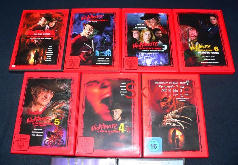 Freddy Krueger 9 DVDs - Nightmare on the Elm Street -