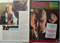 Poster Zeitschrift Monster des Monats Nr. 2 Horror 1973 RAR