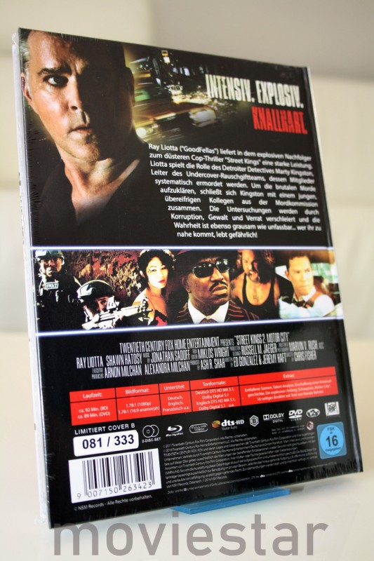Street Kings 2 UNCUT MEDIABOOK Cover B Limited 333 NEU / OVP