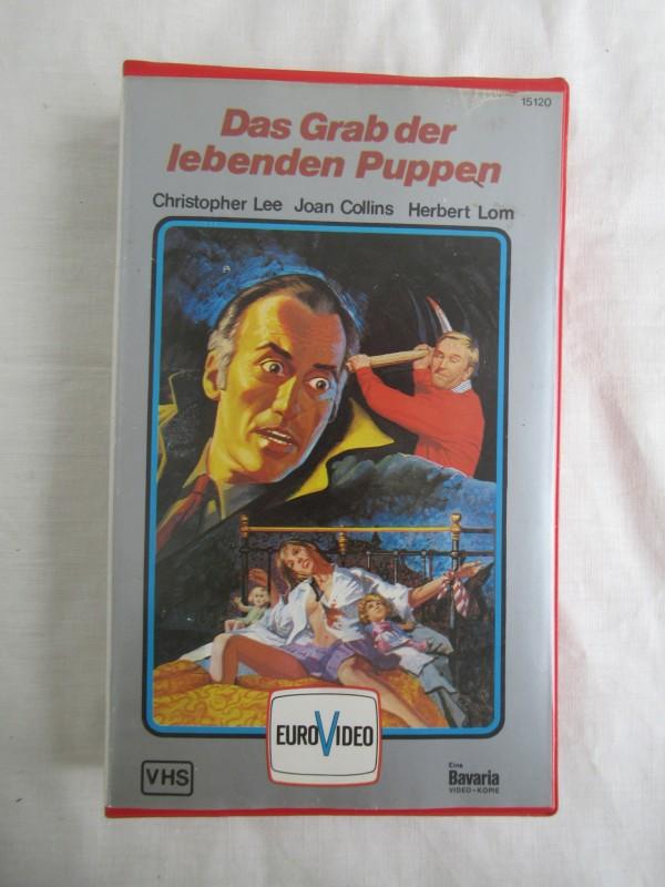 altes VHS video DAS GRAB DER LEBENDEN PUPPEN bavaria euro