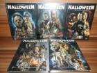 5x Halloween Mediabook Cover D,E,F,G,H Blu-Ray neu&ovp