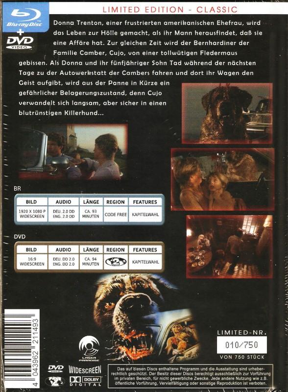 Cujo Mediabook Uncut Limited Edit 010 / 750 Ovp Stephen King
