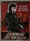 2 DVDs Savage Streets - Mediabook - UNCUT wie NEU