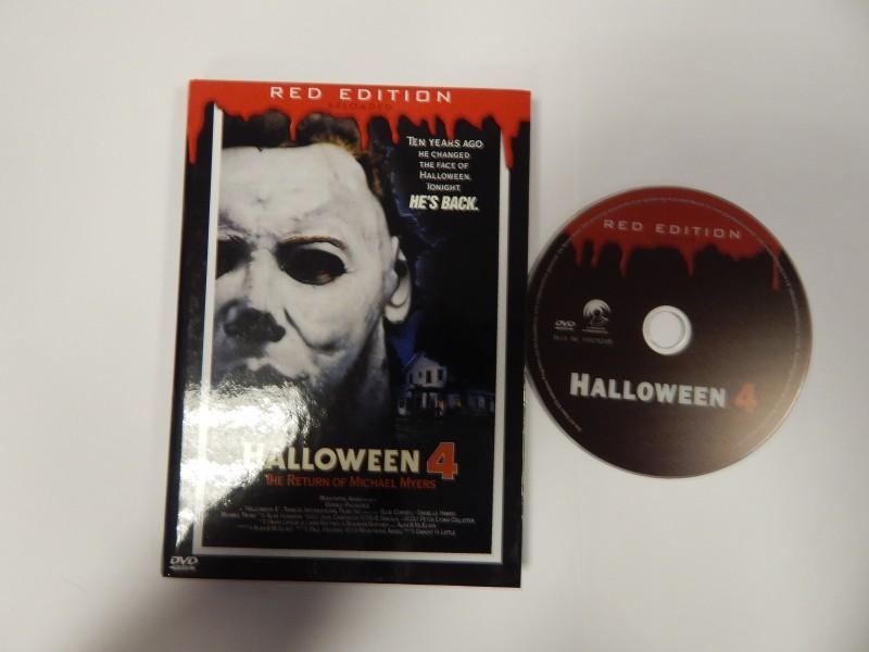 Halloween 4 The Return of Michael Myers Hardbox DVD Red E