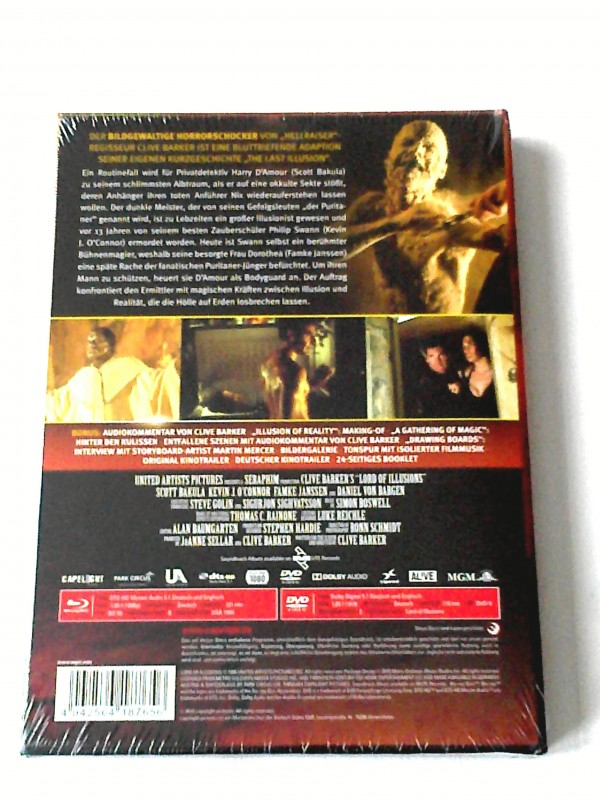 LORD OF ILLUSIONS(CLIVE BARKER)LIM.MEDIABOOK - UNCUT