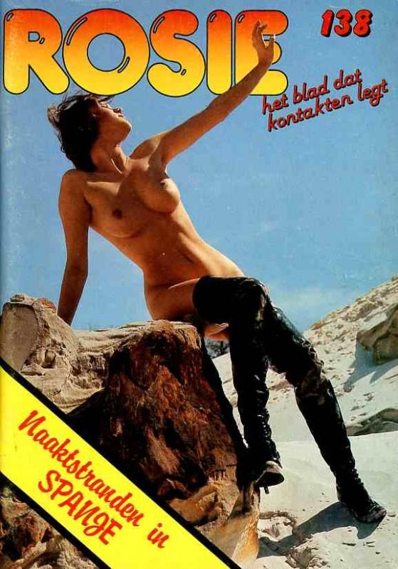 BRIGITTE LAHAIE french adult star high boots latex magazine