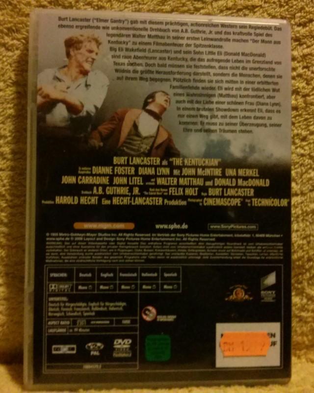 Der Mann aus Kentucky Burt Lancaster Dvd Uncut Selten!