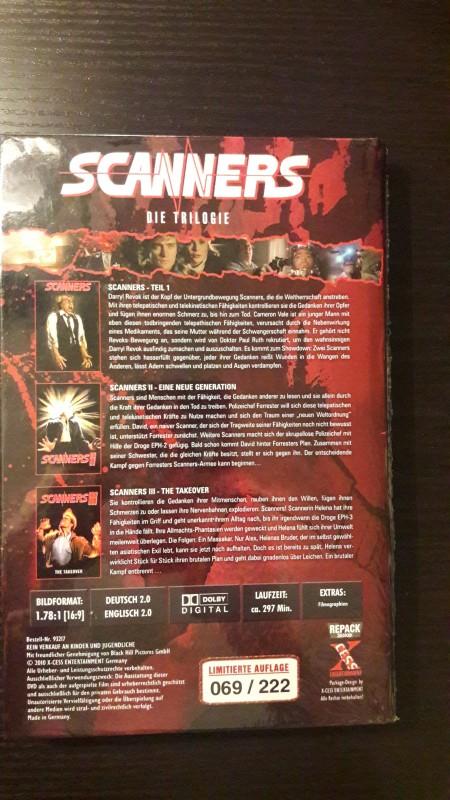 SCANNERS Die Trilogie - große Hartbox Limited Uncut Edition