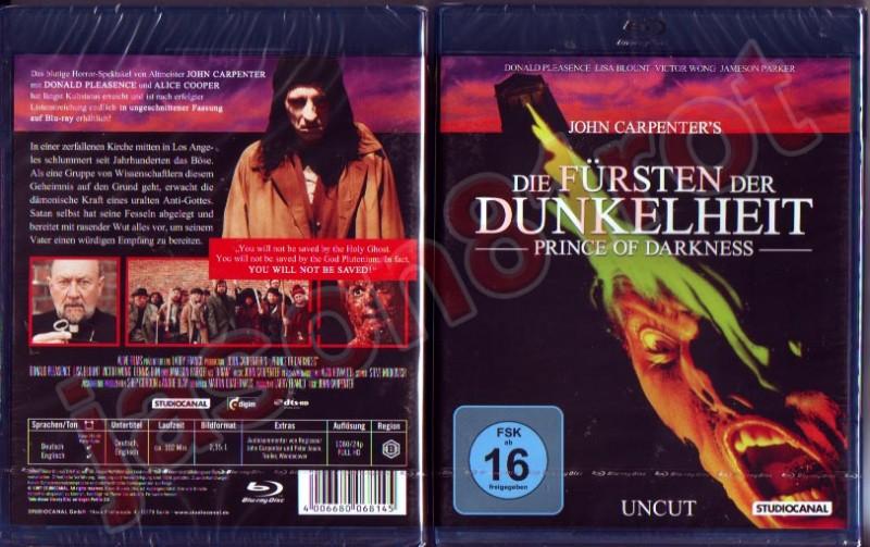 Die Fürsten der Dunkelheit - uncut / Blu Ray NEU  OVP