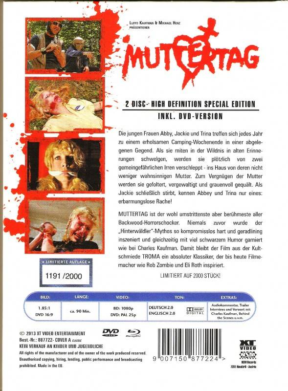 Muttertag - XT Mediabook Cover A - Limited Edition (AT)