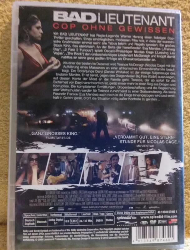 Bad Lieutenant Cop ohne Gewissen DVD Uncut Erstausgabe