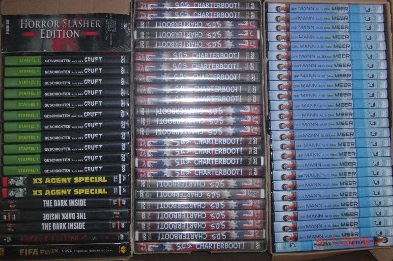 145 ARTIKEL - BOXEN - SERIEN - STEELS - 18er DVDs - OVP -