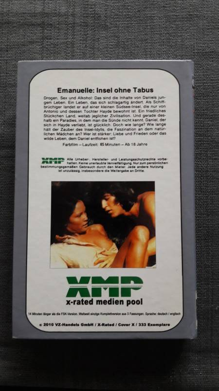 INSEL OHNE TABUS große Hartbox X-Rated Cover X Laura Gemser