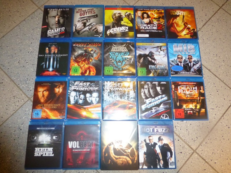 Filmsammlung 57. Filme Blu Ray`s u.Dvd`s Mad Max 1 u. 2