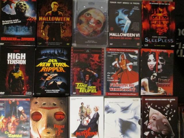 SAMMLUNG - 45x  HORROR DVDs- Unsane, Sado, Muttertag...